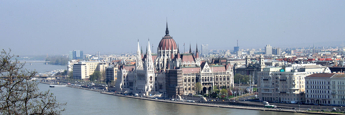 Budapest Parliament from castle